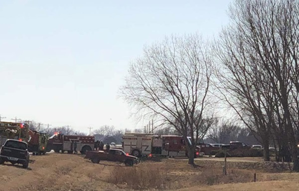 (AUDIO) Fire destroys house west of Dannebrog