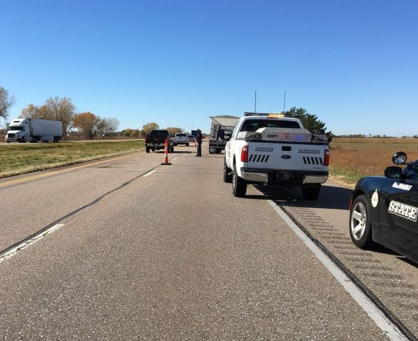 Two-semi crash injures drivers, closes I-80 eastbound