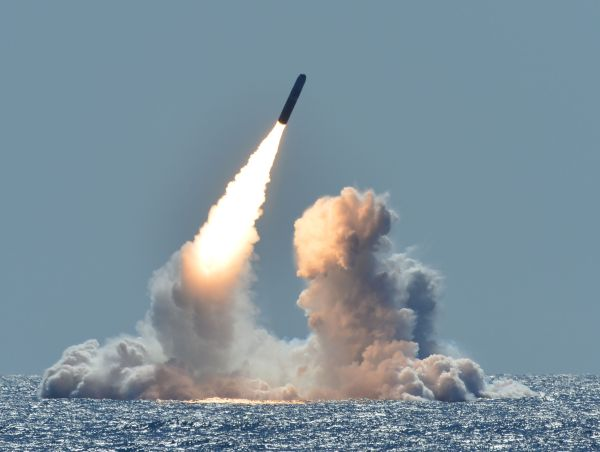 USS Nebraska successfully tests Trident II D5 Missile
