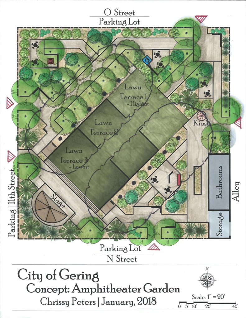 Gering's downtown plaza to focus on unique gardens and landscaping