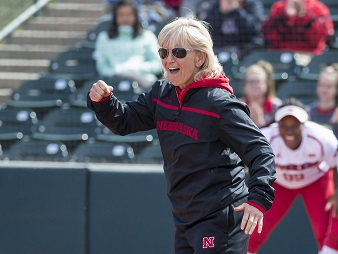 Husker Softball Team beats Green Bay and Northern Iowa to give Revelle 950 career wins
