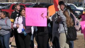 Scottsbluff, Gering students rally on Nationwide Walkout Day