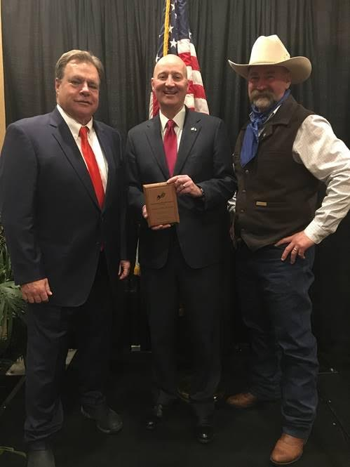 Gov. Ricketts Receives Awards for Leadership in Growing Agriculture