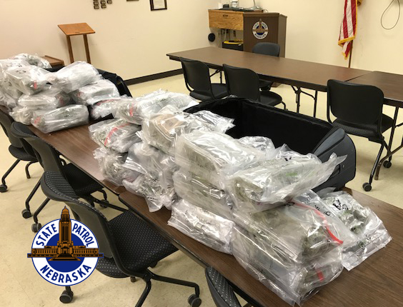 I-80 traffic stop yields seizure of 36 pounds of marijuana