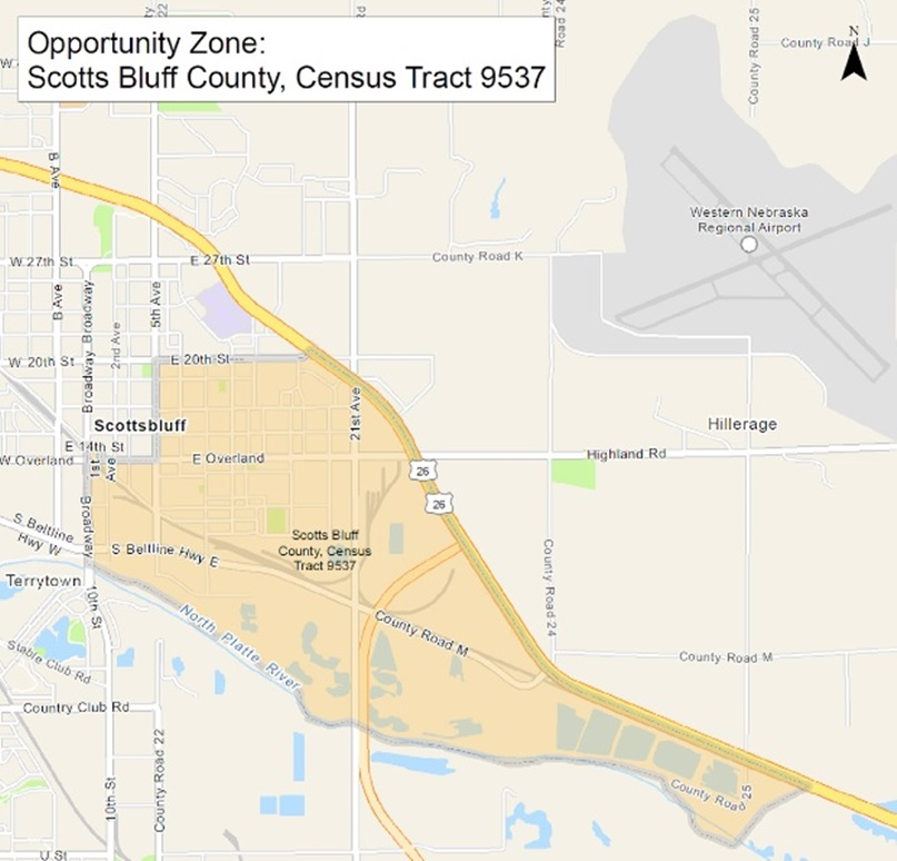 "Scottsbluff area designated as newly formed ""opportunity zone"""