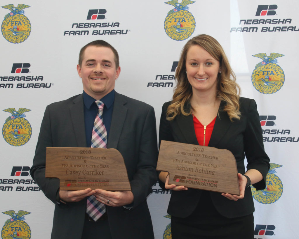 Agriculture Teacher & FFA Advisor of the Year Awarded to Two Nebraska Teachers