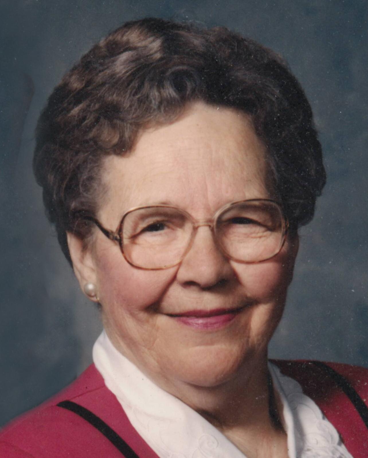 Agatha Belle Schultz, 90 years of age, of Alma, Nebraska, (formerly of Orleans, Nebraska)