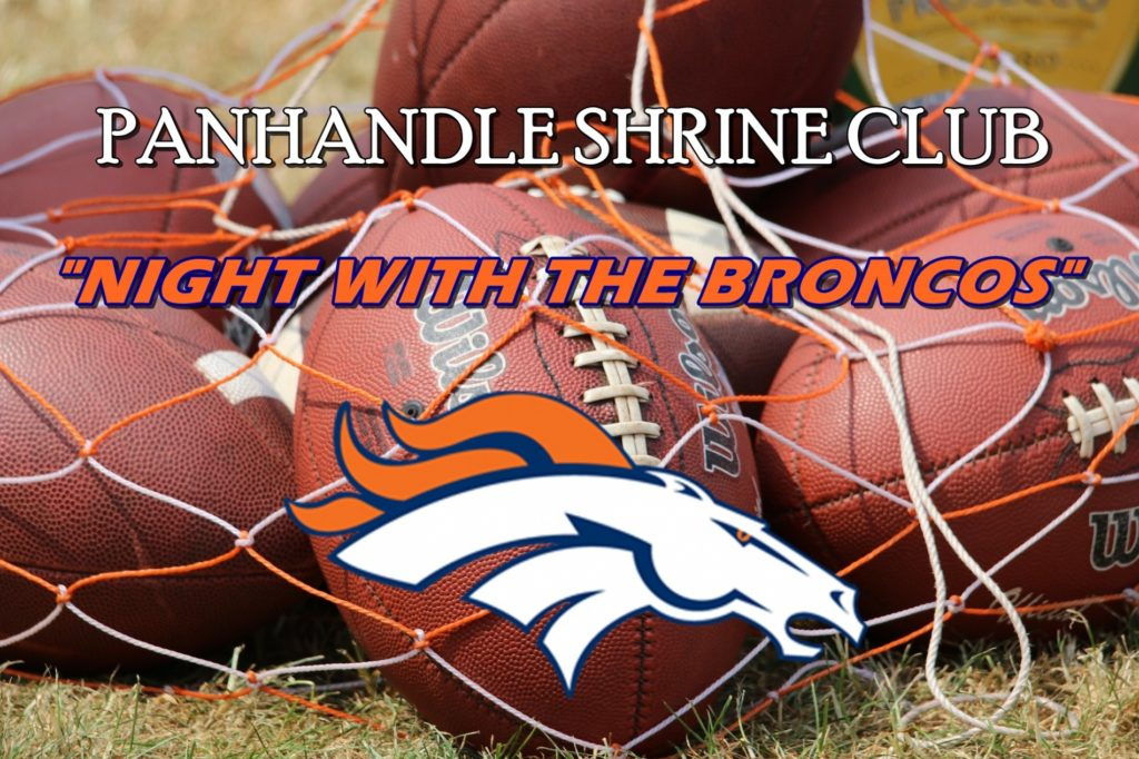 """""""A Night with the Broncos"""" Shriners fundraiser Thursday"""
