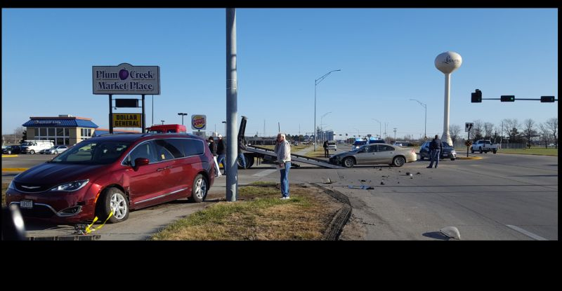 Two-vehicle crash in south Lexington