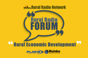 Rural economic development to be featured on Tuesday's Rural Radio Forum from 3:00pm to 4:00pm(Central Time)