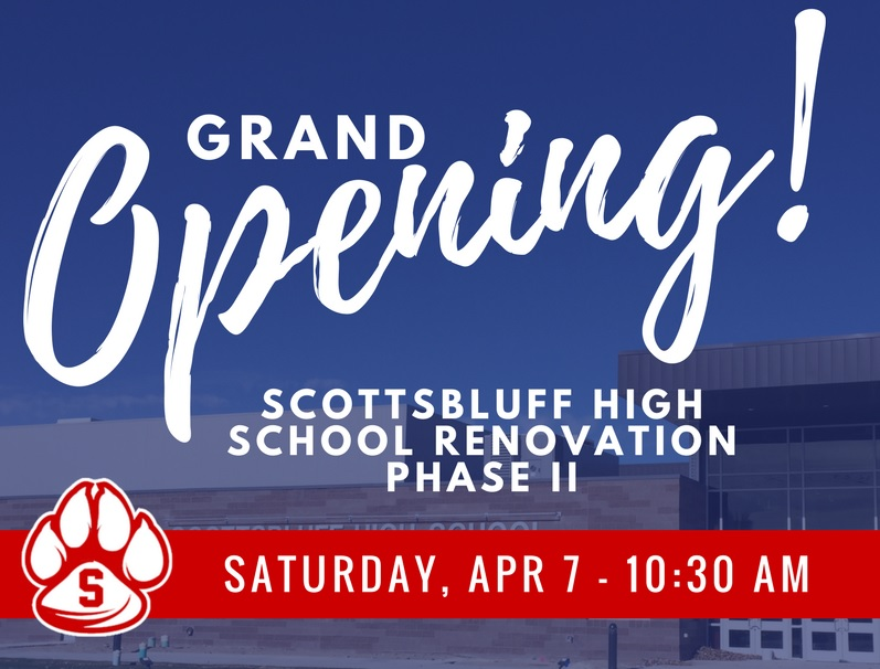 Scottsbluff High School to host Phase II Grand Opening Saturday