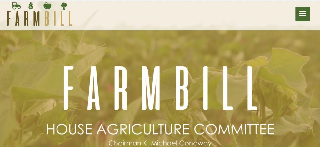 Tentative Next Steps for House Farm Bill