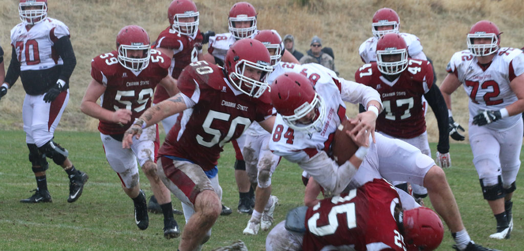 Weather dreary but play bright in Chadron State spring game