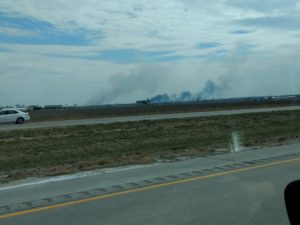 Fire Along Missouri River Still Smouldering