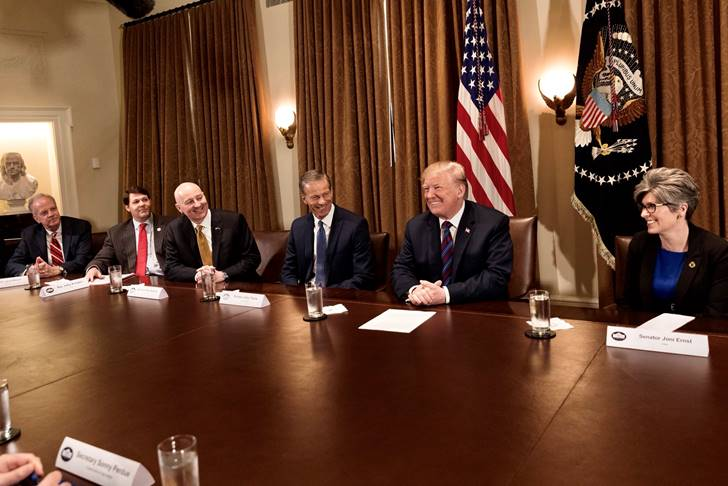 (Audio) Gov. Ricketts Visits White House for Roundtable on Agriculture & International Trade