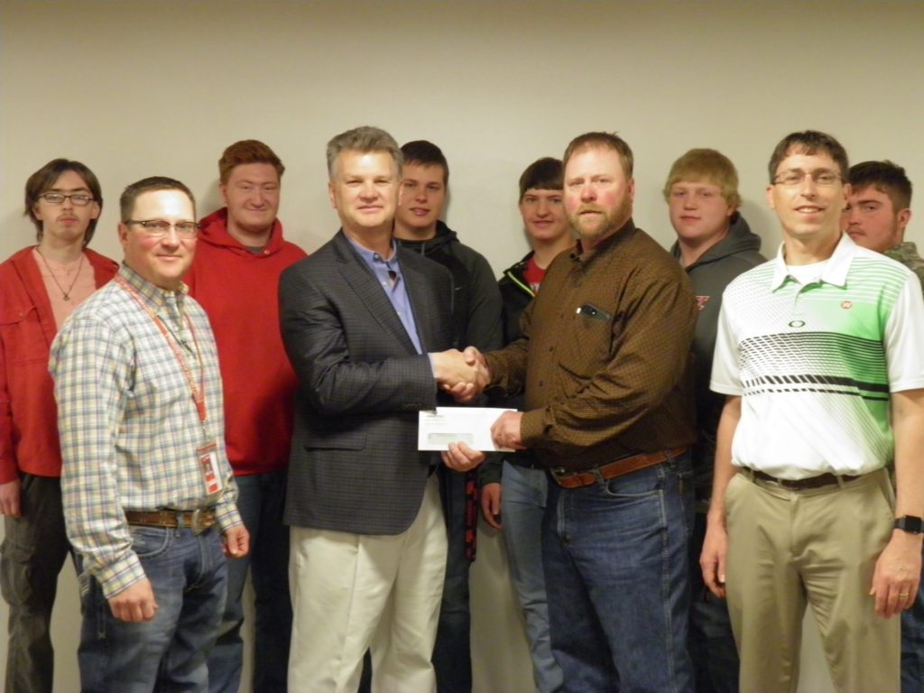 WESTCO presents donation of $10k to Scottsbluff High School