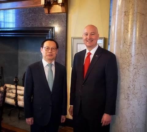 Gov. Ricketts Welcomes South Korea's Consul-General to Nebraska
