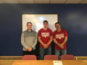 (AUDIO) Gering's Wade Blue signs to throw at Nebraska
