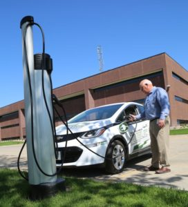 NPPD unveils new Columbus charging station, all-electric vehicle