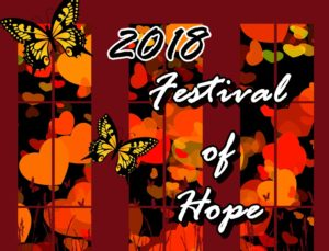 Wall of Hope butterfly donations for Festival of Hope