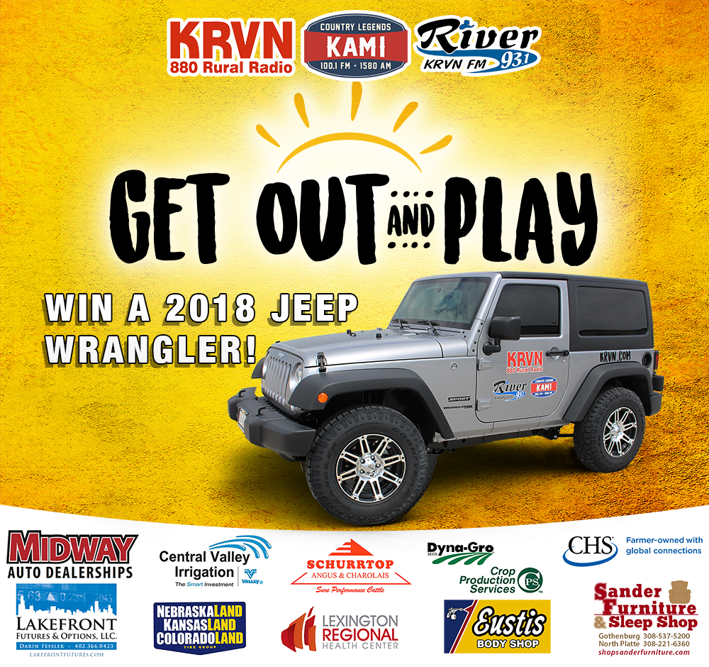 """Get Out and Play"" is theme of KRVN's Jeep giveaway!"