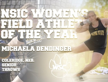 WSC's Dendinger named NSIC Outdoor Field Athlete of the Year again