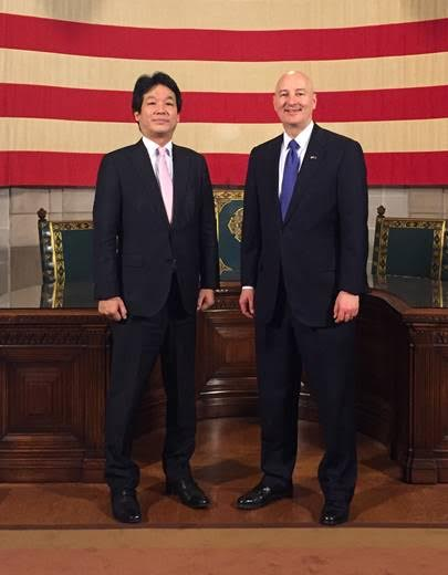 Gov. Ricketts Hosts Special Adviser to Japan's Prime Minister Abe