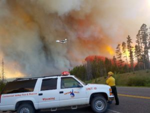 Wyoming wildfire 85 percent contained