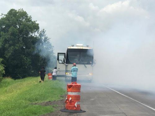 Country group Shenandoah's tour bus catches fire