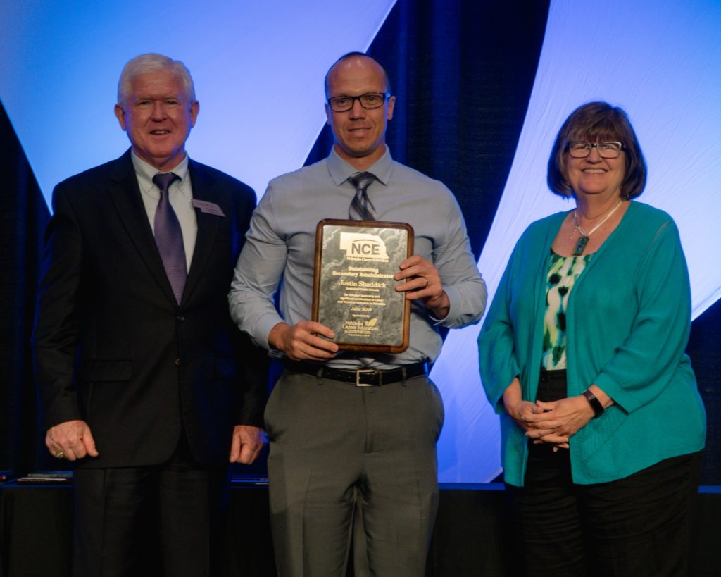 Shaddick receives Nebraska Outstanding Secondary Administrator award