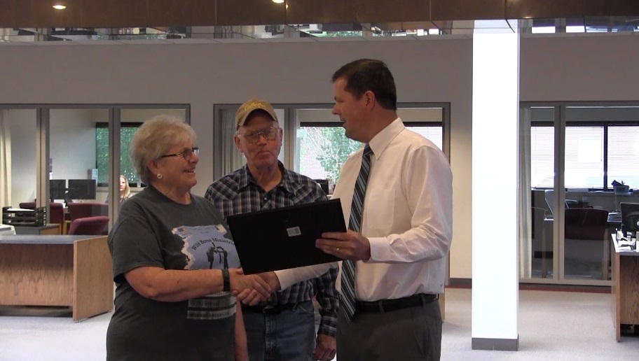 Kathy Gatch honored as First State Bank's Community Champion for June