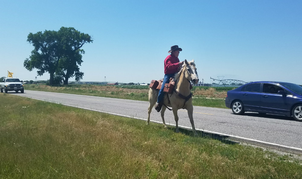 Couple travels from Seattle to view Pony Express Re-Ride