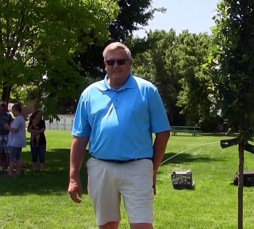 Ernst honored with tree dedication at Gentry Park