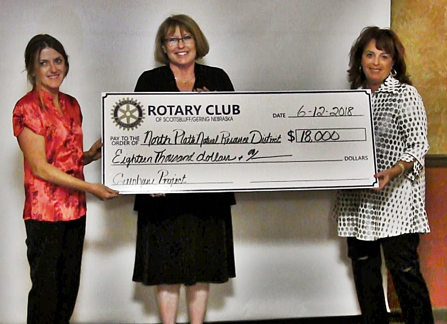 Rotary Gold benefactors receive checks