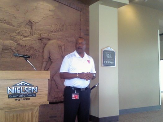 (AUDIO) Nebraska Football Assistants Stop in West Point as Part of Husker Nation Tour
