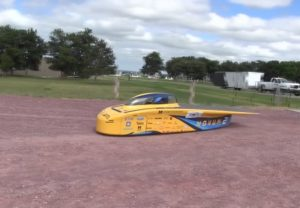 University of Michigan Solar Car races through the Panhandle