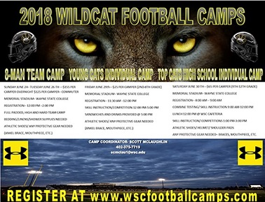 WSC football hosting three camps during final week of June