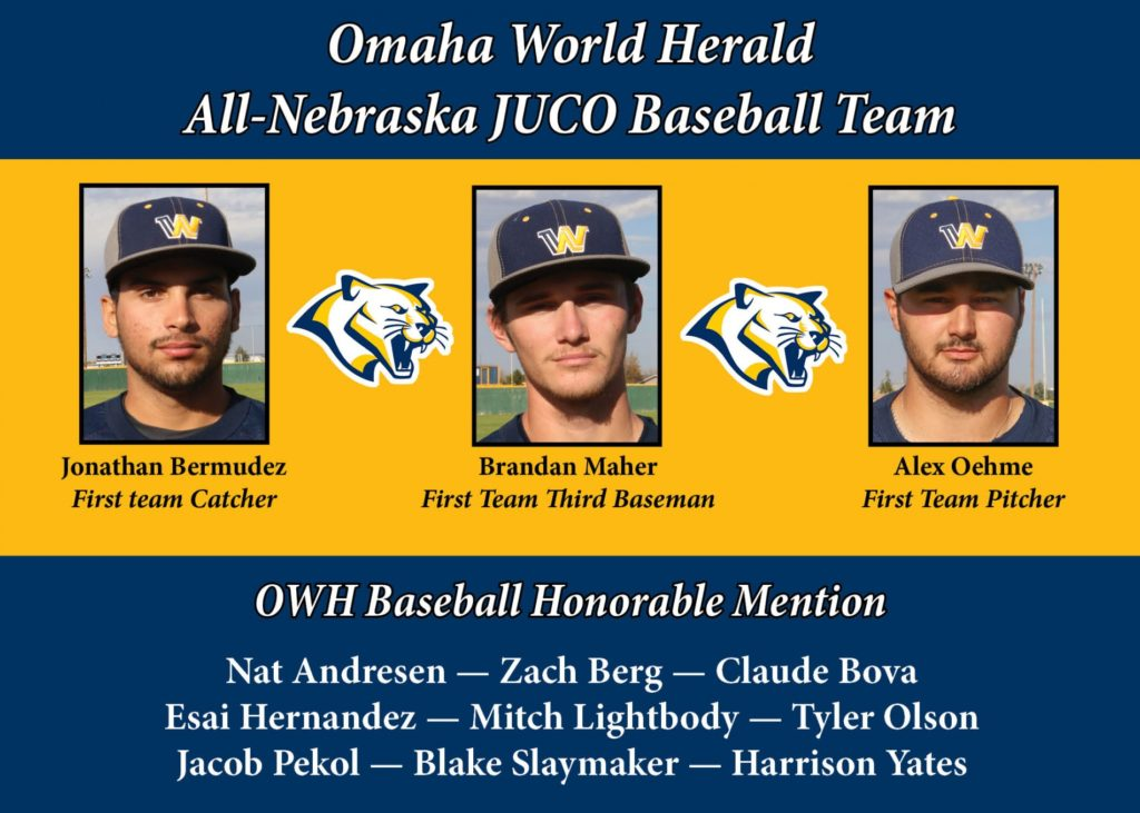 Cougar baseball players earn OWH All-Nebraska First Team honors