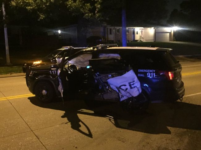Officials say officer hurt in crash involving drunken driver