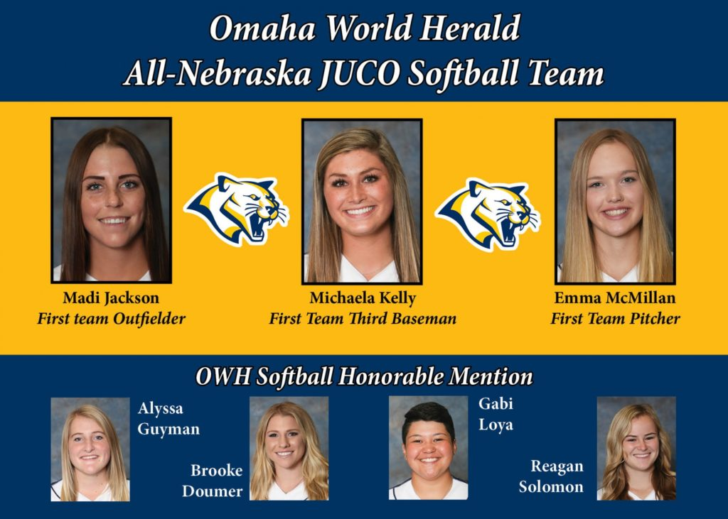 WNCC softball players earn All-Nebraska JUCO honors