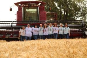 Food Bloggers Visit Kansas During Wheat Harvest