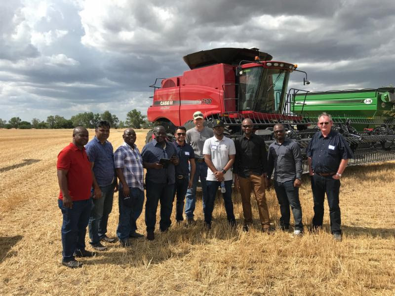 African Flour Millers Visit Wheat Harvest
