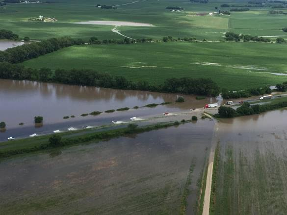 Gov. Ricketts Surveys Northeast Nebraska Flooding as the State Assists with Response