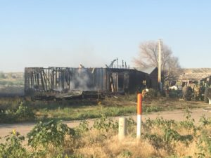 Tuesday evening fire destroys building in Rural Scotts Bluff County