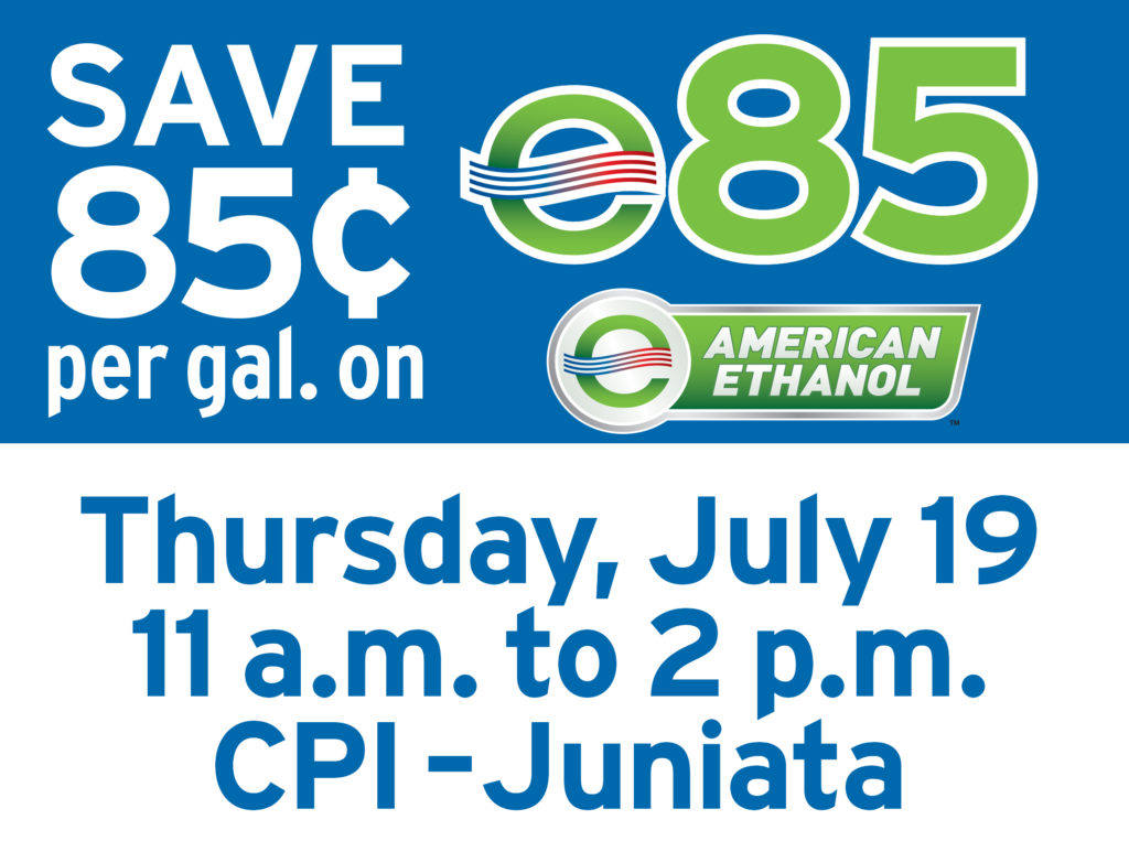 Huge Fuel Savings on E85 at CPI Juniata