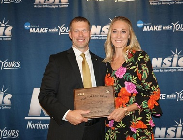 Emily (Schroeder) Jones inducted into NSIC Hall of Fame Tuesday evening