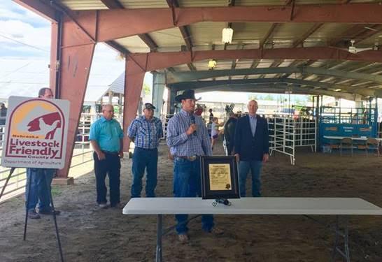Gov. Ricketts Announces Furnas County as Newest Nebraska Livestock Friendly County