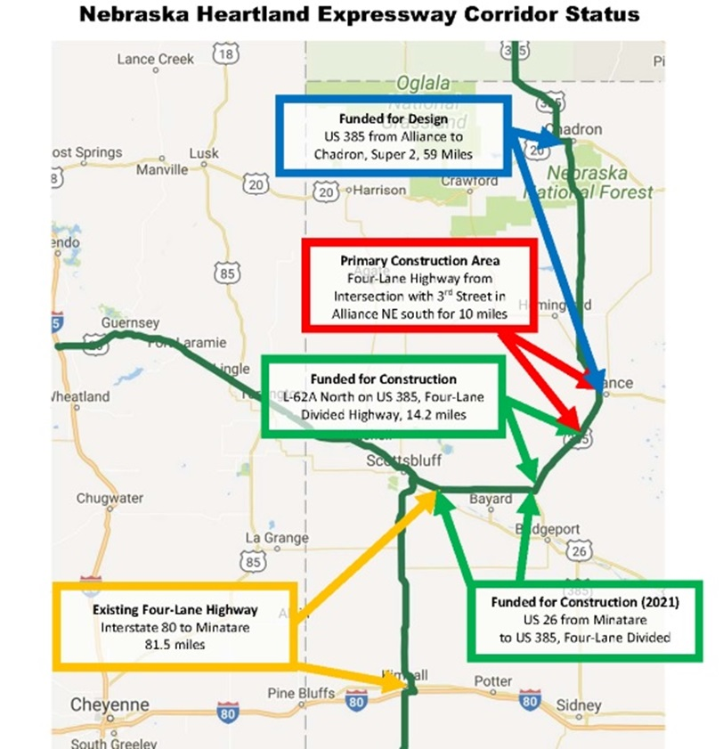 Heartland Expressway segment could be complete in a decade