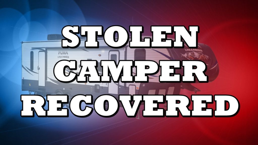 Camper Stolen from Colorado recovered in Alliance