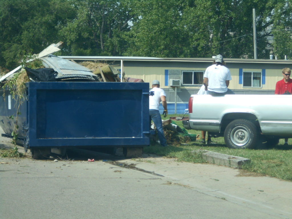 Rock Church members clean trailer park in Terrytown